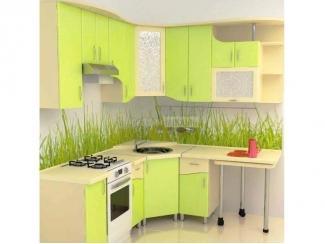 Яркий салатовый кухонный гарнитур Арт-Модерн 5 - Мебельная фабрика «Аркадия-Мебель»