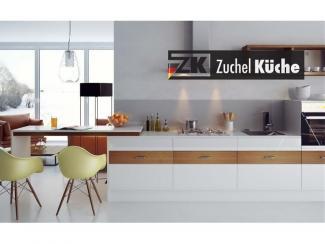 Кухонный гарнитур прямой Мелле Уайт - Мебельная фабрика «Zuchel Kuche»