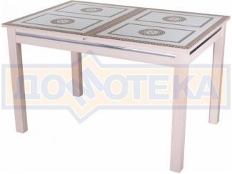 Стол обеденный со стеклом Дельта-1 - Мебельная фабрика «Домотека»
