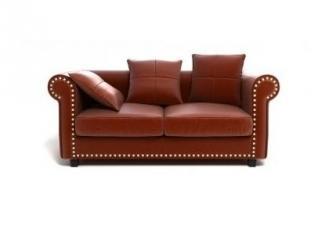 Кожаный диван в классическом стиле София - Мебельная фабрика «DefyMebel», г. Москва