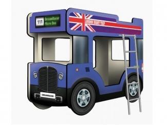 Двухъярусная кровать-Автобус МикроБас Лондон - Мебельная фабрика «КАРоБАС»