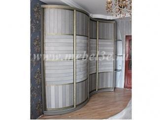Радиусный шкаф купе с обоями - Мебельная фабрика «ТРИ-е»