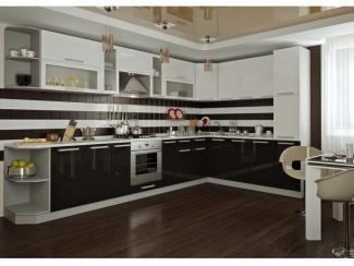 Черно-белая кухня Пелагея - Мебельная фабрика «Гермес»