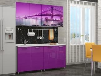 Яркая кухня с фотопечатью Бридж - Мебельная фабрика «Disavi»