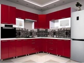 Яркая красная угловая кухня METRIO Д 2.3 - Мебельная фабрика «Центр мебели Интерлиния»