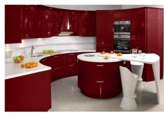 Красная закругленная кухня Гаяна - Мебельная фабрика «Bonawentura»