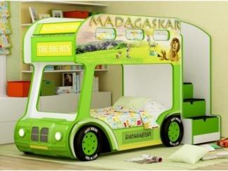 Двухъярусная кровать-Aвтобус Madagaskar - Мебельная фабрика «Red River»