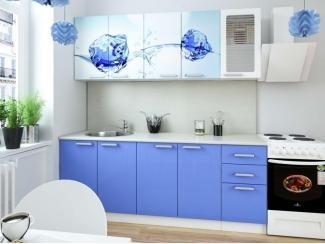 Кухня с фотопечатью Голубой лед