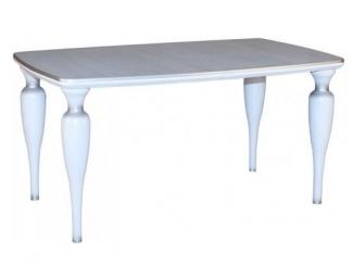 Белый стол с резными ножками Флеренция - Мебельная фабрика «КЛМ-мебель»