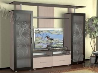 Гостиная с распашными шкафами мелодия 6  - Мебельная фабрика «Ангелина-2004»