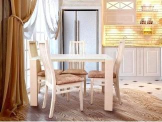 Обеденная зона в классическом интерьере кухни - Изготовление мебели на заказ «ЭкоМассив»