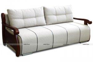 диван МВС Корнет Тройка с деревянными подлокотниками - Мебельная фабрика «Фабрика МВС»