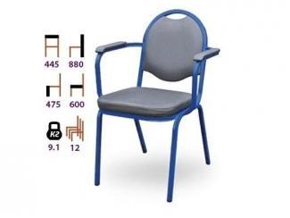 Стул П логос с подлокотниками  - Мебельная фабрика «Реванш СПБ»