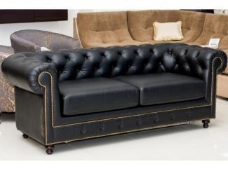 Красивый черный диван Плаза 2 - Мебельная фабрика «Новая мебель»