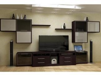 Гостиная стенка с навесными полками  - Мебельная фабрика «Передовые технологии дизайна»