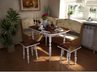 Кухонный угол С УТЯЖКОЙ  - Мебельная фабрика «Александрия»