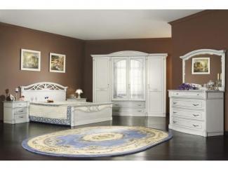 Спальня Элеганца белая платина  - Мебельная фабрика «Мебель Черноземья»