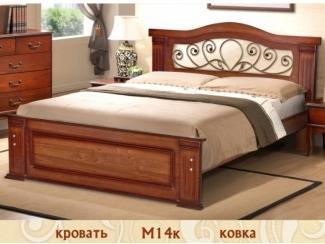Кровать М 14 с коваными элементами  - Мебельная фабрика «Селена»