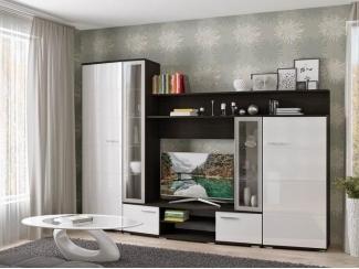 Гостиная Валенсия МДФ Белый глянец - Мебельная фабрика «Эстель»