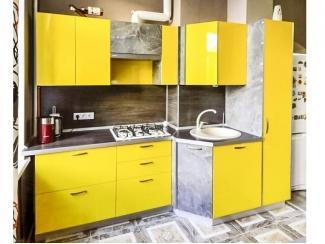 Яркая желтая кухня - Мебельная фабрика «Моя кухня», г. Санкт-Петербург