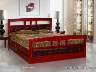 Кровать Флирт 1 кожа - Мебельная фабрика «Альянс 21 век»