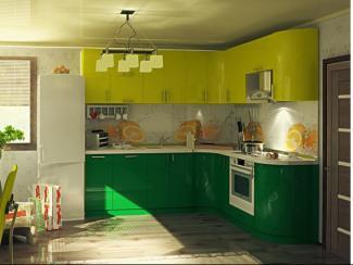 Кухня угловая Николь пластик - Мебельная фабрика «Вариант М»