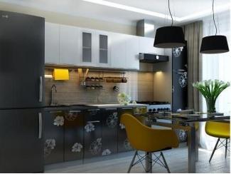 Контрастная кухня с цветами Грация - Мебельная фабрика «Горизонт»