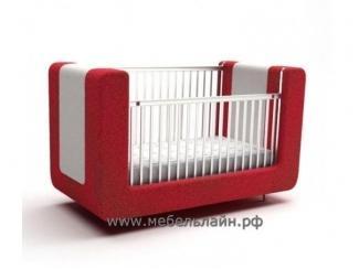 Детская кроватка с мягким основанием Миньон - Мебельная фабрика «МебельЛайн»