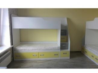 Детская двухъярусная кровать  - Мебельная фабрика «Альфа-Мебель»