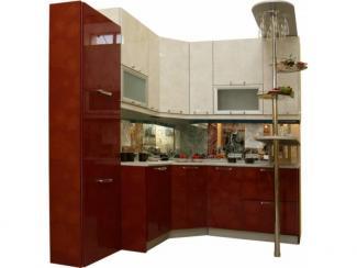 Кухня угловая Красный белый цветок