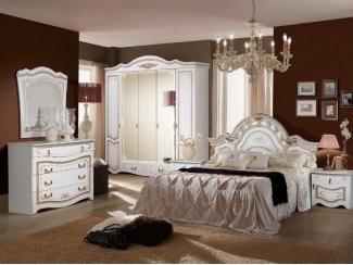 Спальный гарнитур Рим 5П белый - Мебельная фабрика «Август»