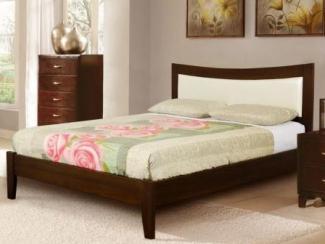 Кровать Бали-6 массив бука экокожа