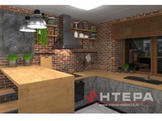 Кухонный гарнитур Лофт  - Мебельная фабрика «Интера»
