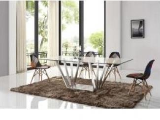 Обеденная группа: Стол HA-1412K Стул Y970 - Импортёр мебели «Евростиль (ESF)»
