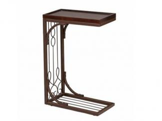 Стол журнальный приставной с кованными элементами - Импортёр мебели «МебельТорг»