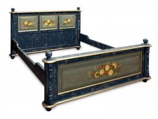 Кровать из массива сосны из коллекции Русский Прованс - Мебельная фабрика «Грин Лайн»