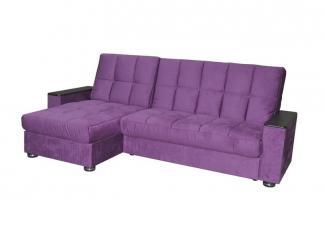 Фиолетовый угловой диван-кровать Финка 10