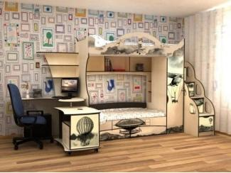 Кровать детская с УФ печатью КД Альфа 6.1 - Мебельная фабрика «Квадрат»