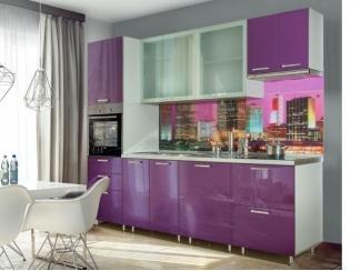 Прямая фиолетовая кухня  - Мебельная фабрика «Прима-сервис», г. Белгород