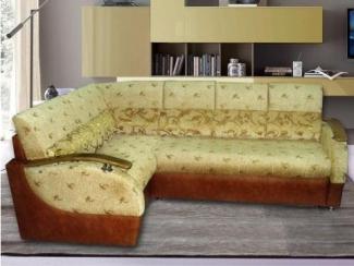 Угловой диван с деревянными подлокотниками Корона 5 - Мебельная фабрика «Корона», г. Ульяновск