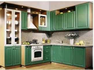 Кухня МДФ с фрезеровкой (лазурь) - Мебельная фабрика «Ренессанс»