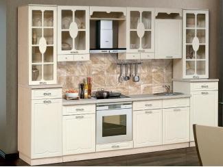 Прямая кухня Бариста с двумя буфетами - Мебельная фабрика «Аджио»