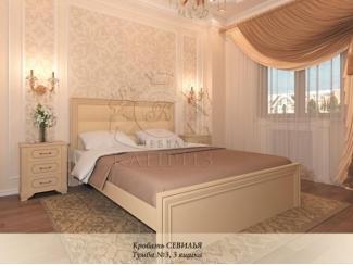 Кровать со вставкой Севилья - Мебельная фабрика «Каприз»