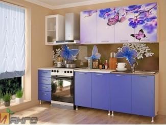 Прямая кухня Бабочки с фотопечатью - Мебельная фабрика «Манго»