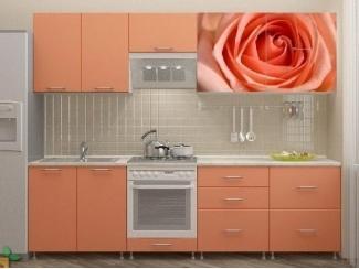 Прямая кухня Роза-2 с фотопечатью