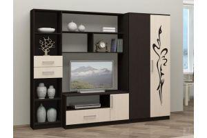 Гостиная стенка Мечта с рисунком - Мебельная фабрика «МиФ»