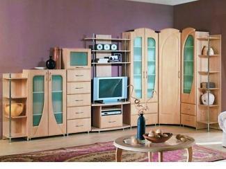 Гостиная стенка Аркадия МДФ - Мебельная фабрика «Гамма-мебель»