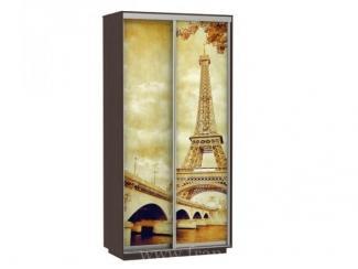 Двухдверный шкаф-купе с фотопечатью Париж  - Мебельная фабрика «Фран»