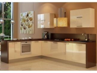 Кухня в бежевых тонах Акрил  - Мебельная фабрика «Вектра-мебель»