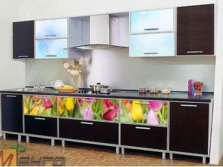 Прямая кухня Весна с фотопечатью - Мебельная фабрика «Манго»